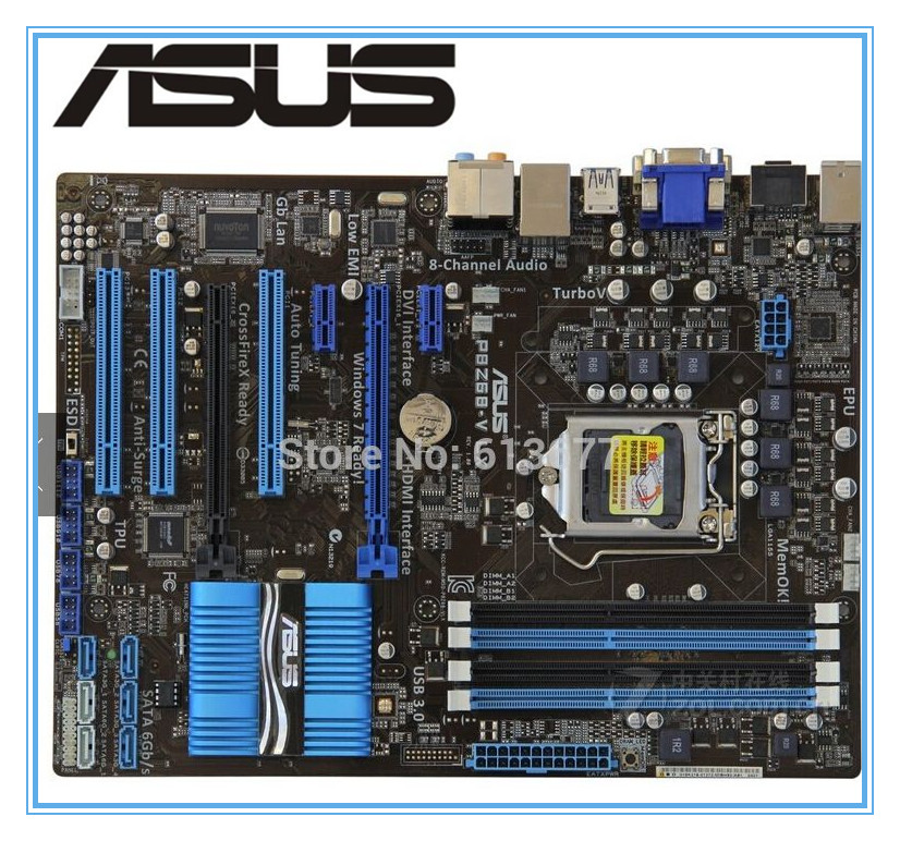 ASUS P8Z68-V LX carte mère DDR3 LGA 1155 carte mère De Bureau USB3.0 ATX Carte Mère Livraison gratuite