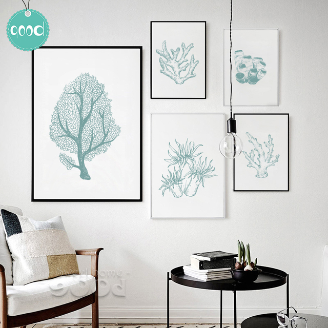 Sea Life Plant Canvas Art Print Painting Poster C Wall Pictures For Home Decoration