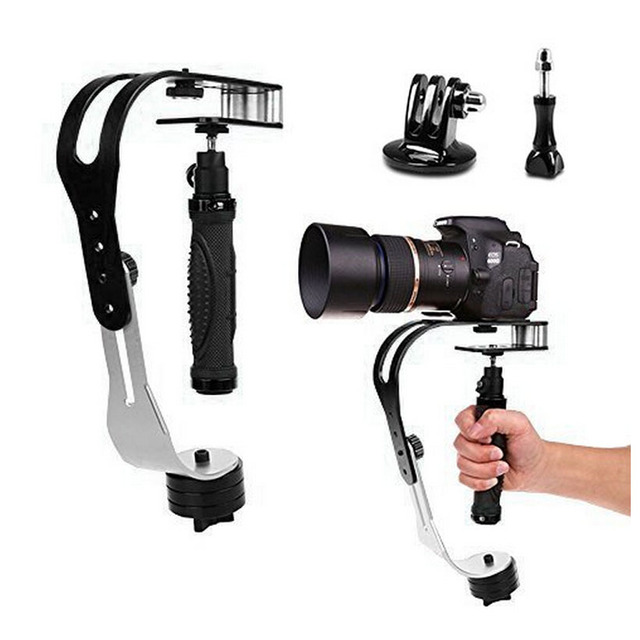 Mini Handheld Steadycam Aluminum Video Stabilizer Support for Gopro Canon Nikon DV DSLR SLR or Any Digital Camera Camcorder