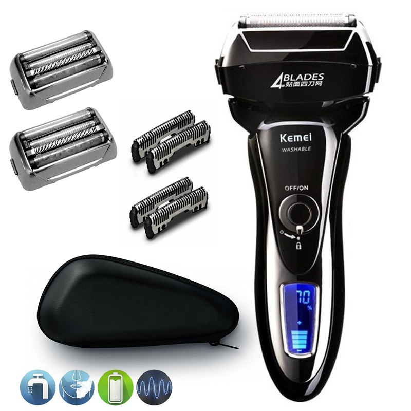 Professional washable cleaning shaver rechargeable electric shaver for men 3D pro electric razor male beard face