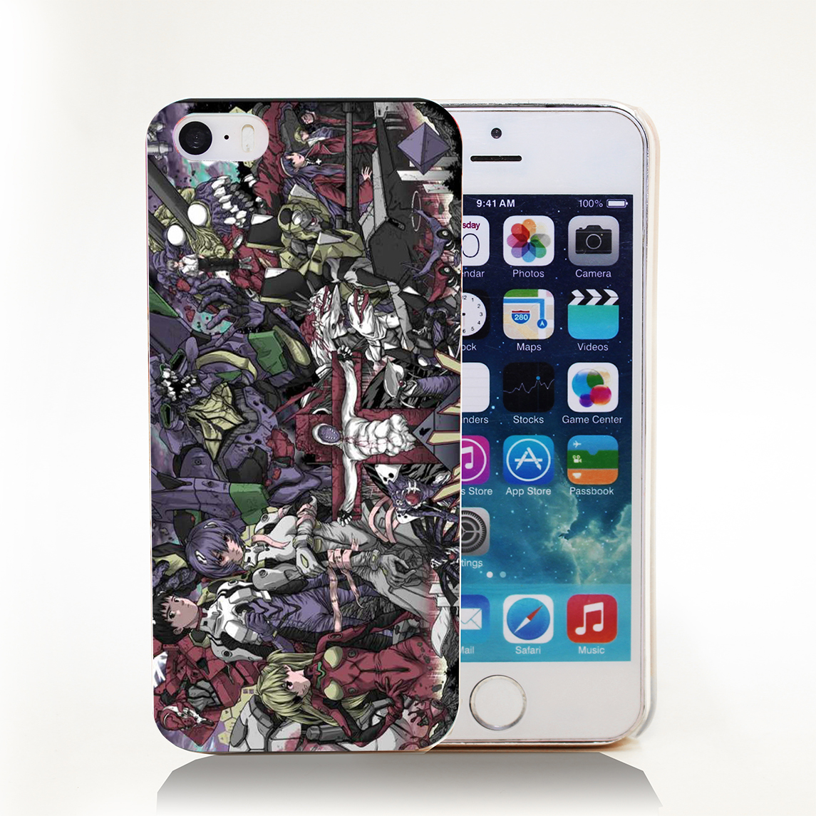 Neon Genesis Evangelion Hard Transparent Cover Case for iPhone 4 4s 5 5s 5c 6 6s Protect Phone Cases