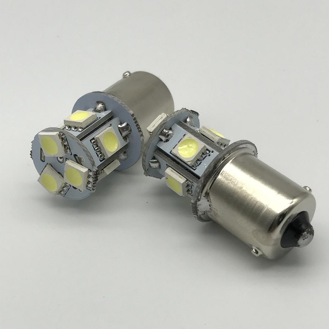 2pcs BA15S R5W 1156 5050 8SMD LED  Car Led Turn Parking Signal Lights Brake Tail Lamps Auto Rear Reverse Bulbs DC 12V