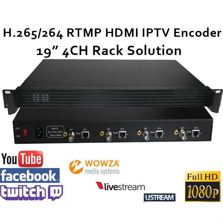 4CH .265 / H.264 SDI Video Encoder támogatja az RTMP-t élő - Otthoni audió és videó