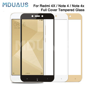Image 1 - 9D Tempered Glass on the For Xiaomi Redmi 5 Plus S2 4X 5A Redmi Note 4 4X 5 5A Pro Screen Protector Protective Glass Film Case