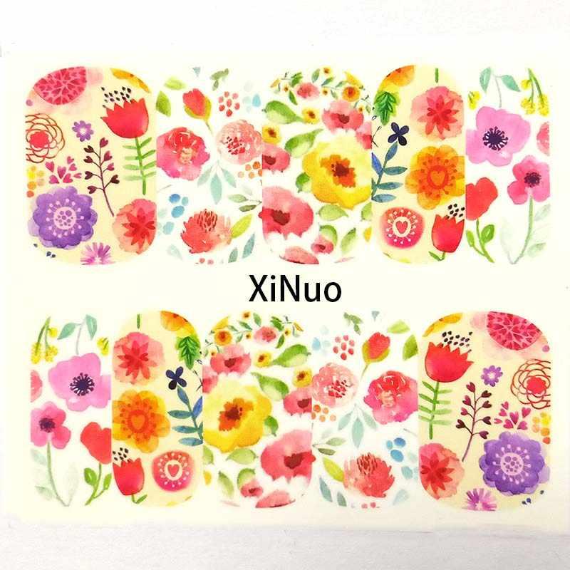 1 adet kelebek tırnak su transferi çıkartmaları tırnak sanat Sticker çiçekler filigran kaydırıcılar sarar dekorasyon manikür A01