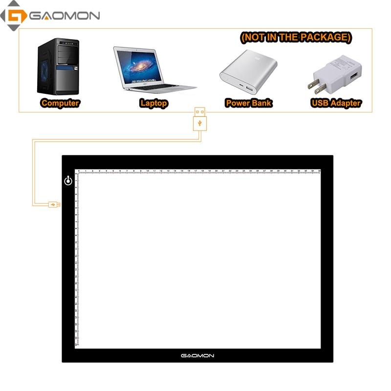 GAOMON GB4 5 MM Ultradelgado LED Light Pad Tablero de la caja Tablero - Periféricos de la computadora - foto 5