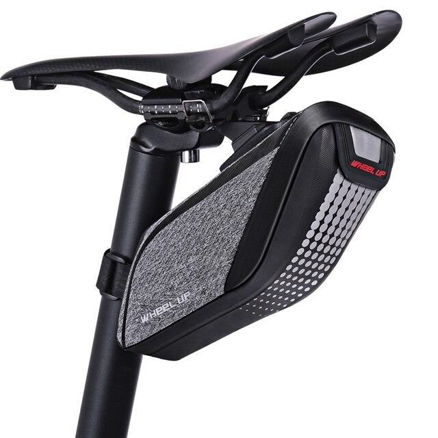 Wheel Up Bicycle Rear Bag 3D Shell Rainproof Reflective Shockproof Cycling Bag Bike Seatpost Bag