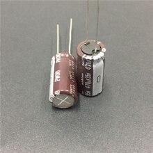 10 шт. 470 мкФ 35 в NICHICON PW серия 10x20 мм низкое сопротивление длительный срок службы 35V470uF алюминиевый электролитический конденсатор
