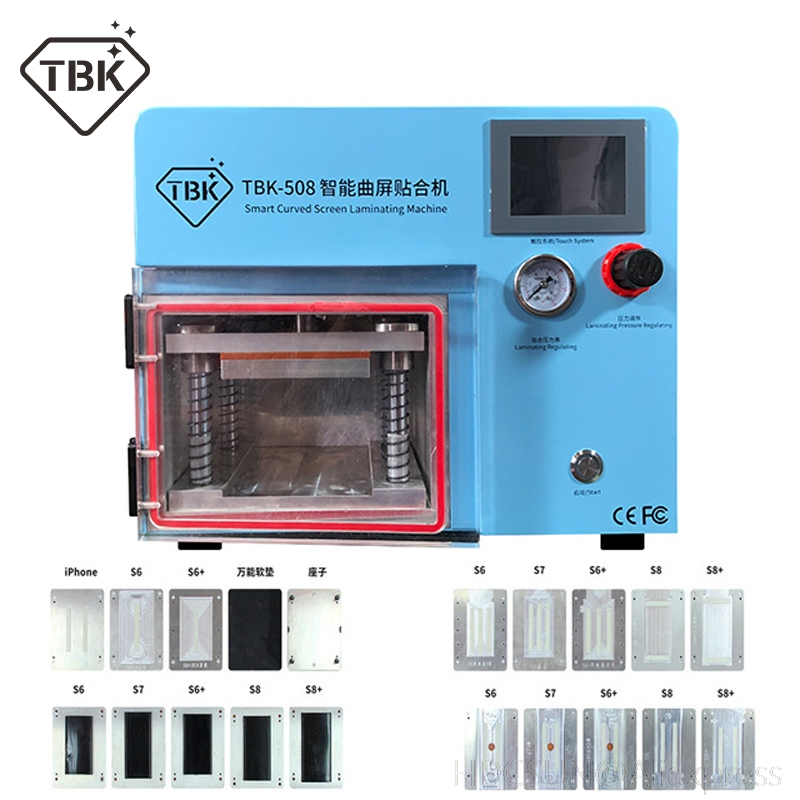 TBK-508 Curved Screen Laminating and Debubble Machine LCD Edge Laminating Machines For samcung S6 S7 S8 edge screen with molds free shipping high precision metal mold mould for samsung s6 edge s7 edge lcd screen laminating mould and alignment mould