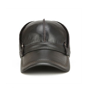 Image 4 - [NORTHWOOD] عالية الجودة جلد البقر حقيقية قبعة بيسبول جلدية الرجال الشتاء Gorras الفقرة Hombre Snapback Casquette الشتاء قبعات سائق الشاحنة