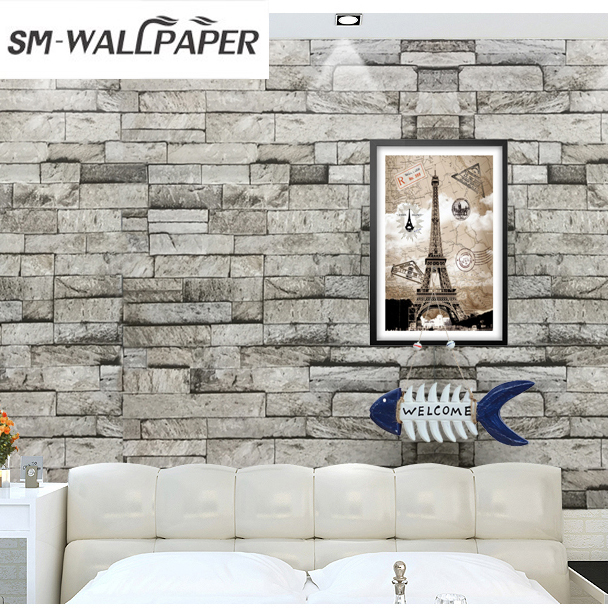 3D Dark Gray Mixed Old Wall Wallpapers Brick Wall Stickers papel de parede PVC Stone Home Background Decor мозаика l antic colonial frame brick dark 10x20 28 5x31 1