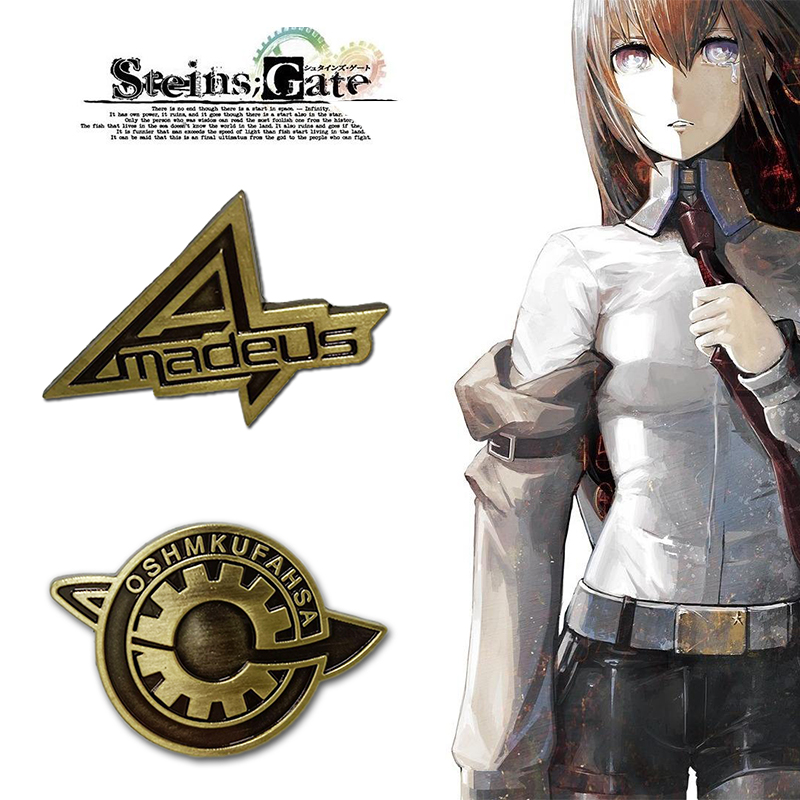 Game Steins Gate Cosplay Badge Pin Brooch Makise Kurisu Labmen The Fate Of The Stone Door Props Accessories Anime