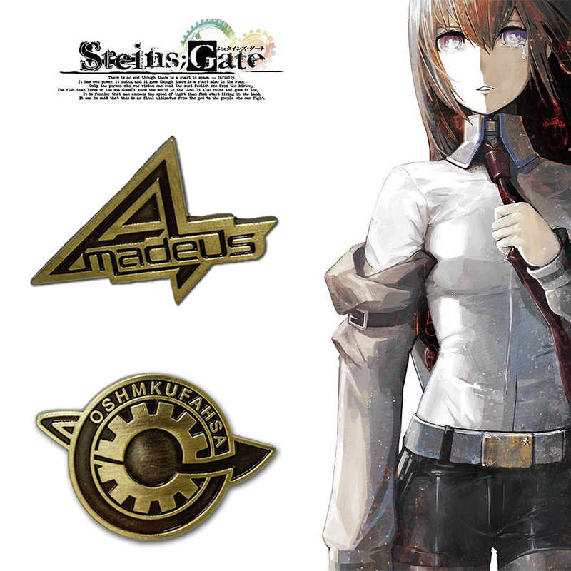 Spel Steins Gate Cosplay Badge Pin Broche Makise Kurisu Labmen Het Lot van De Stenen Deur Props Accessoires Anime
