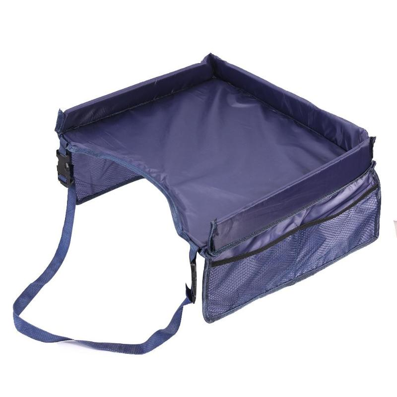 Waterproof Table Car Seat Tray Storage Kids Toys Infant Stroller Holder Fiber
