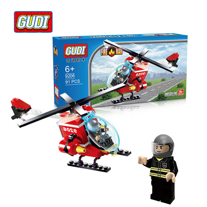 American AH- 6 birdie Police helicopter DIY Model Building Block Sets Kids Educational Toys Compatible With Lego Kids Gifts Toys