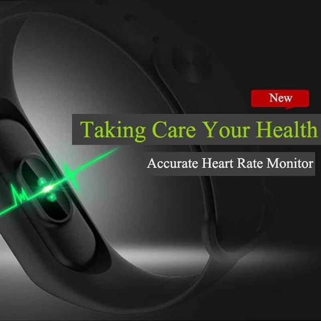 Fitness Tracker Heart Rate Monitoring For IPhone X Samsung Note 9 S9  Android Phones Pedometer Calorie Sleep Tracker Waterproof