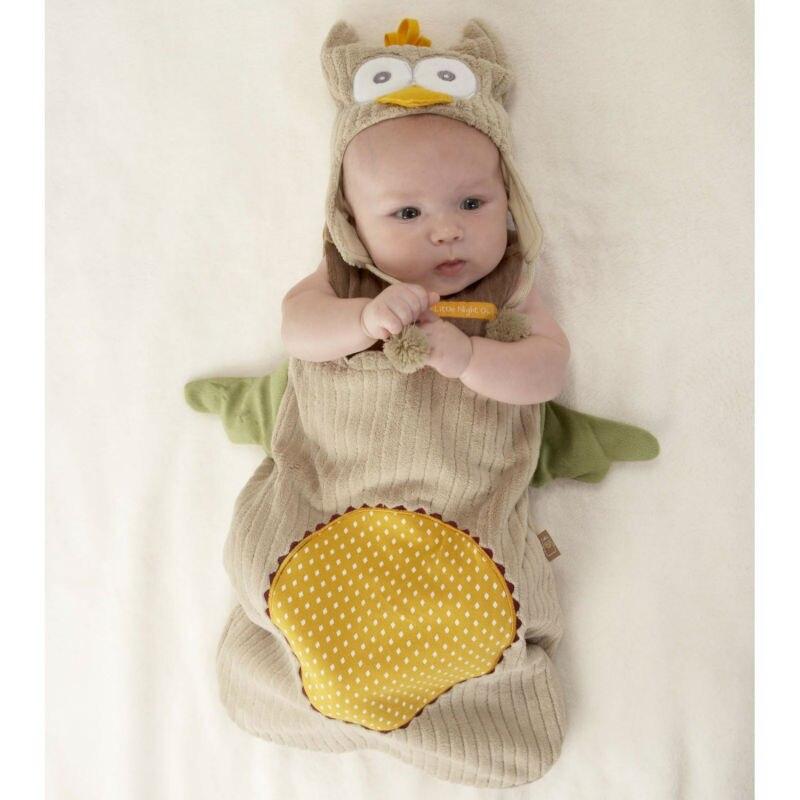 ФОТО Fashion Winter Thick Cute Newborn Baby Sleeping Bags with Cap Anti Tipi Cotton Infant Sleepsacks Boy Girl Fleebag 60-83CM