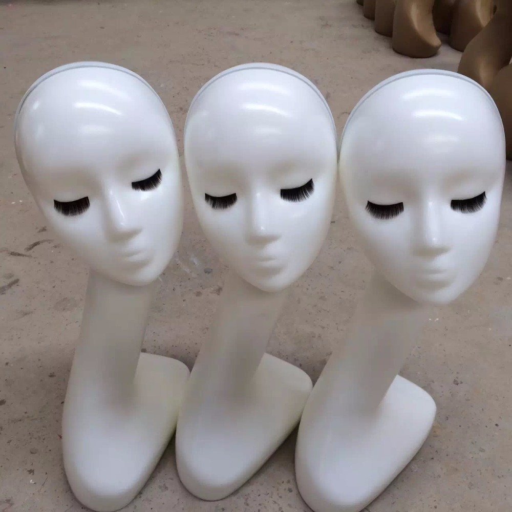 New Style Wig Head Gloss White Mannequin Head Mannequin