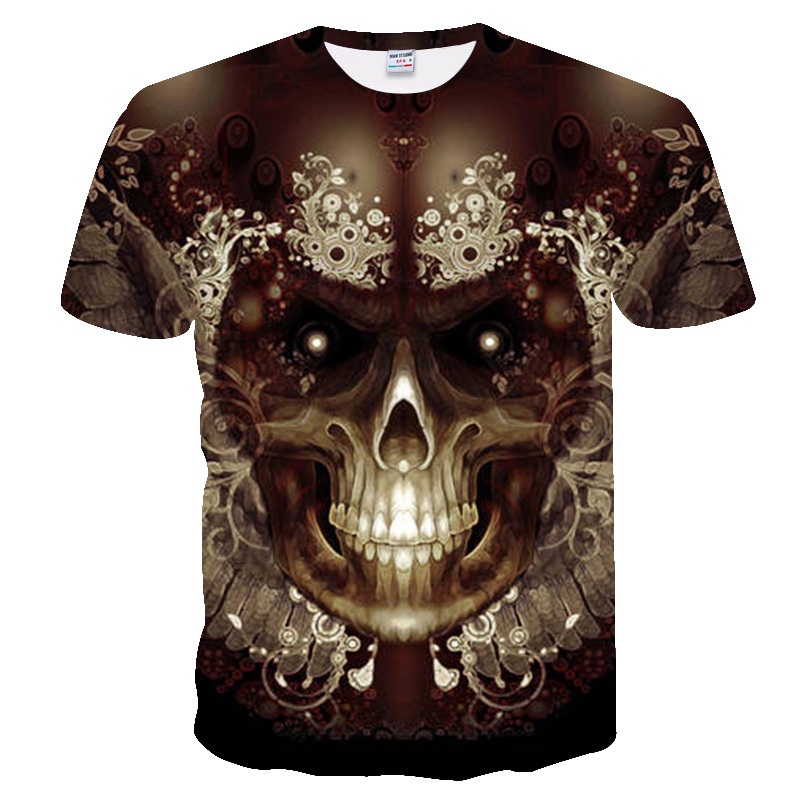 t shirt men 2019 Newest skull 3D Print Cool Funny T-Shirt Men Short Sleeve Summer Tops T Shirt T Shirt Male Fashion T-shirt men