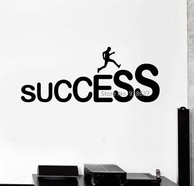 Success Career Ladder Job Wall Stickers Office Decor Removable Vinyl Decal For Room DIY