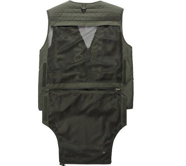 Été extérieur gilet hommes poches maille photographe randonnée chasse pêche gilet tactique coton Outwear veste sans manches
