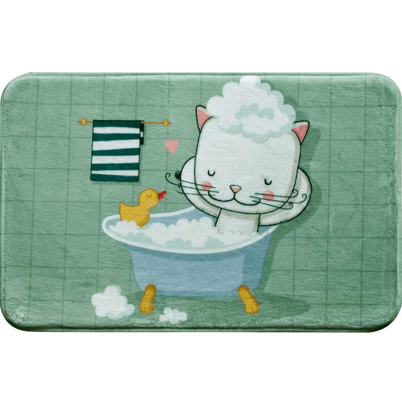 Antypoślizgowa mata do kąpieli śliczne wzory zwierzęce dywan absorbujący wodę mata do toalety dywaniki tapete antiderrapante conjunto de banheiro