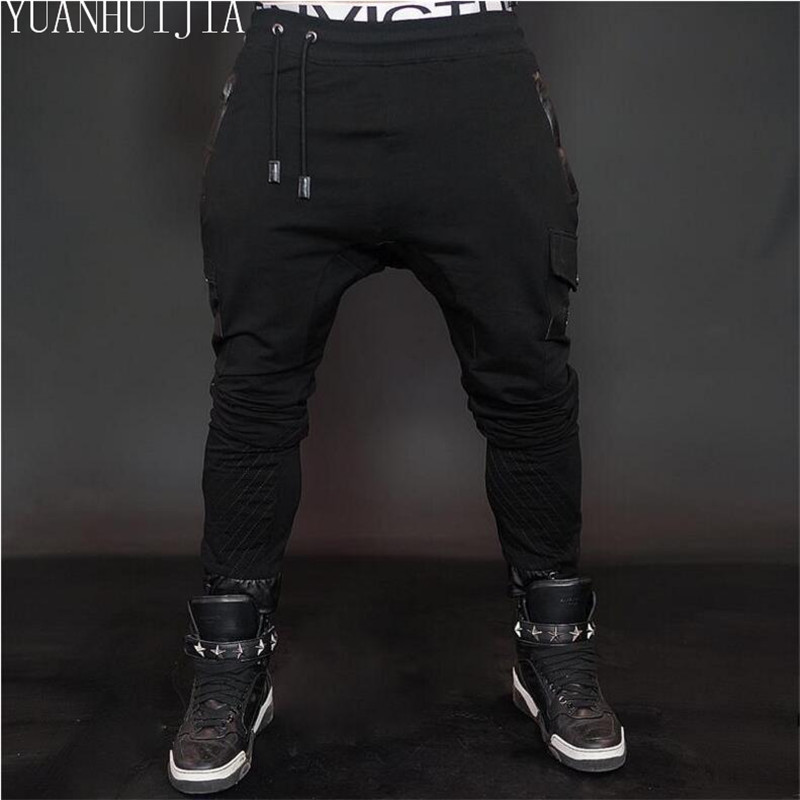 New trend Designer men harem pants pantsMen Casual Battle Army Cotton Men Black Gray Pants casual men pants male trousers