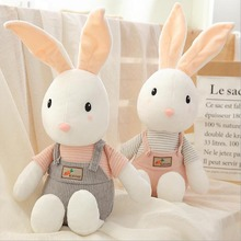New Style Rabbit Wearing Clothe Plush Toy Short Doll Best Gift For Children Girl