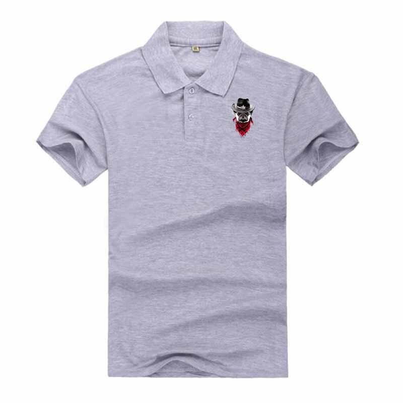 2018 Summer Men Polo Shirt Fit Casual Polo Clothing Short Sleeve Fashion Polo Shirt Summer M- 3XL Animal Print