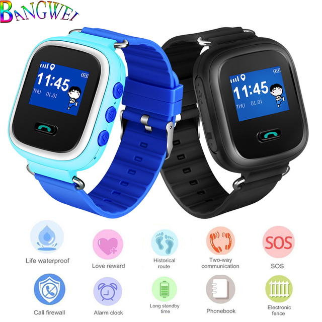 BANGWEI Smart Watch Multifunction Children Digital Wristwatch SOS Alarm Baby Wat