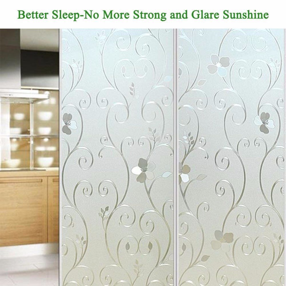 3d Flower Privacy Window Film Frosted Translucent Decorative Glass