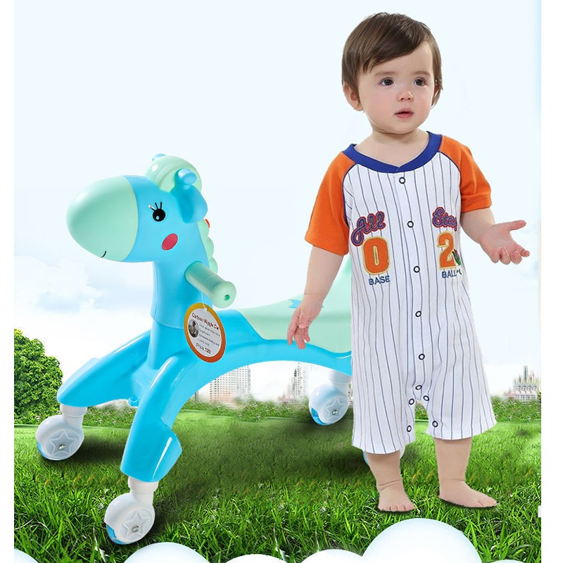 Toddle Safe Four wheel Balance car Cartoon Music Flash Baby Walker Car sound light balance bike Tricycle Bike Ride on Toys child