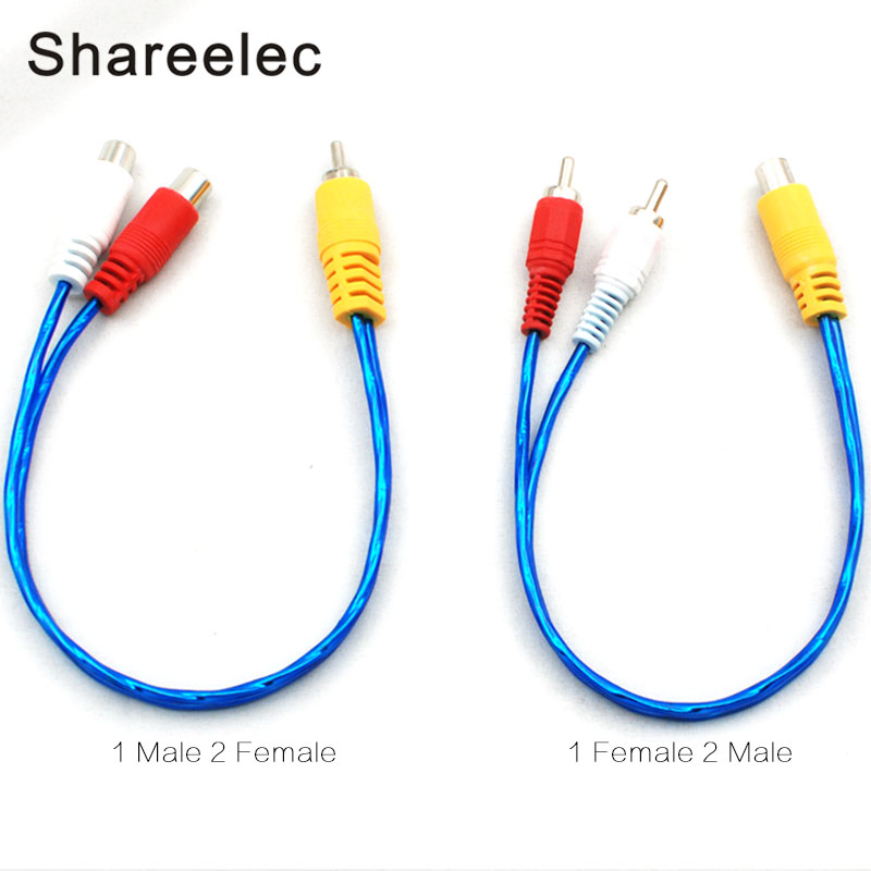 Shareconn RCA male female Aux Cable 1 to 2 Audio Cable for home ...