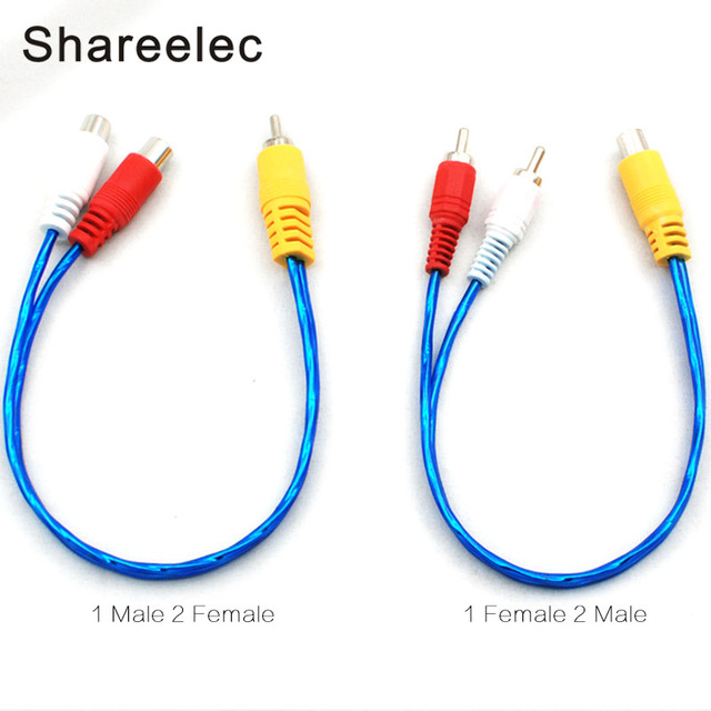 Shareelec RCA male female Aux Cable 1 to 2 Audio Cable for home ...