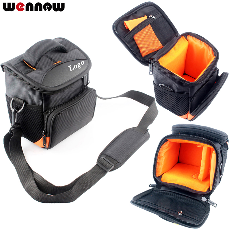 wennew Camera Bag Case Cover for Sony A6000 a6500 A5000 A5100 NEX6 NEX7 NEX-3N NEX-5R NEX-5N NEX-5C NEX-5T NEX-F3 NEX-C3 NEX-6L l22 protective nylon carrying bag for sony nex 7n ne 5n nex f3 black blue