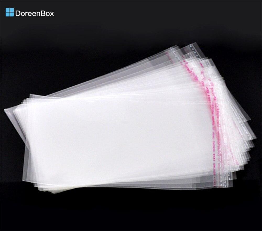 Doreen Box Hot-  200 Clear Self Adhesive Seal Plastic Bags 16x10cm (B10429)