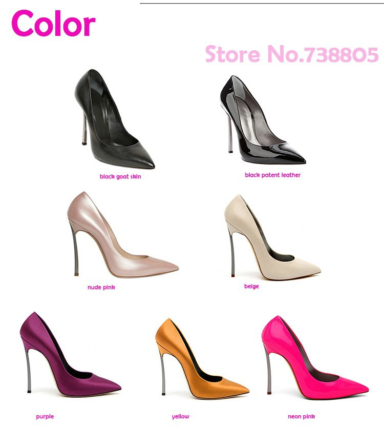 c4dfeeb8b40e New 2014 Plus Size 35 42 10 11 Genuine Leather Elegant Neon Pink ...
