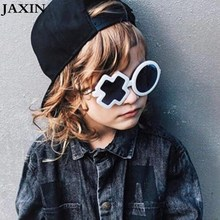 JAXIN 2019 okulary Personality XO Kids Sunglasses Baby New Fashion Sun Glasses Girl trend cool handsome Boy UV400 oculos
