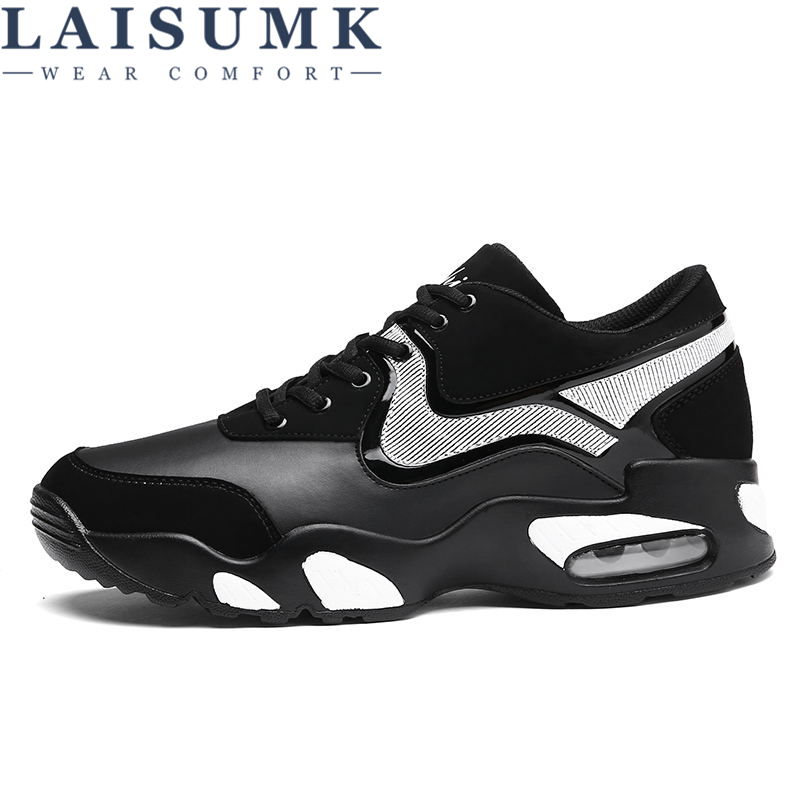 2019 LAISUMK Mens Casual Shoes Fashion PU Leather Solid Flat Comfortable Breathable Superstar Trainers Zapatillas Hombre in Men 39 s Casual Shoes from Shoes