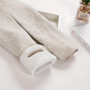 Image 1 - Outono/inverno mais de veludo grosso leggings alta qualidade moda confortável legging calças casuais cor sólida leggings tt3311