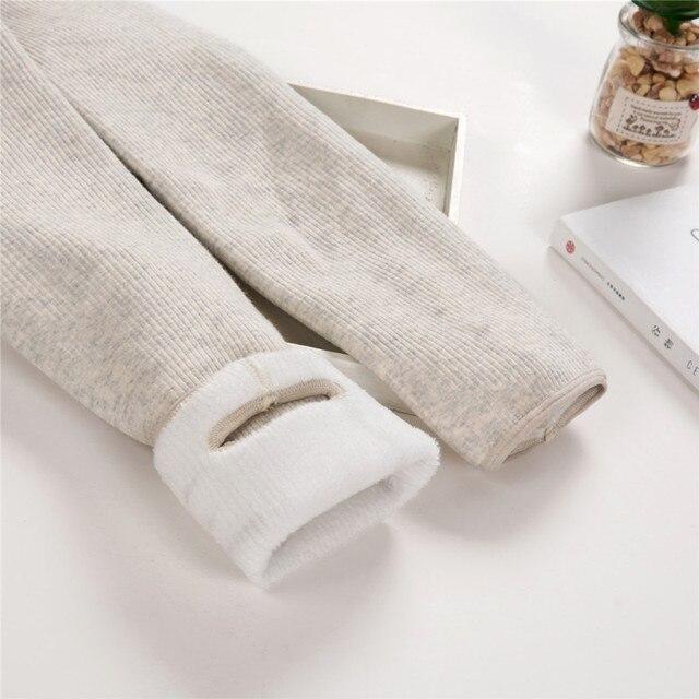 Outono/inverno mais de veludo grosso leggings alta qualidade moda confortável legging calças casuais cor sólida leggings tt3311