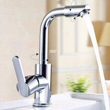 Free shipping modern bathroom faucet,brass chrome polish single handle waterfall bathroom basin mixer faucet,torneira banheiro