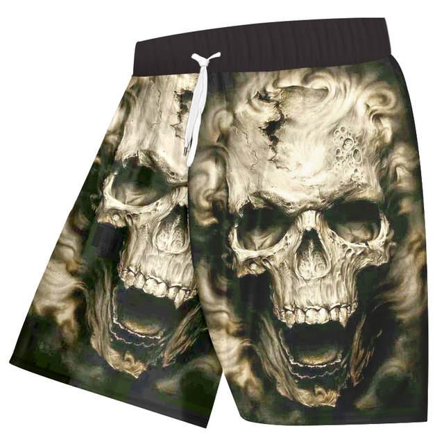 56ddcfb3c5 UJWI Casual Shorts Men Black Short Anime Skull Short 3d Print Shorts Mens  Summer 2018 New