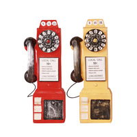 Piggy Bank Creative Children Resin kumbara Telephone Booth Money Box Retro Pattern Money Saving Pot Home Ornaments Craft Gifts