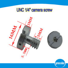 10pcs 1/4 inch Camera Screw flat head camera Hexagonal slotted round screw for DSLR Camera / Tripod / quick release Plate