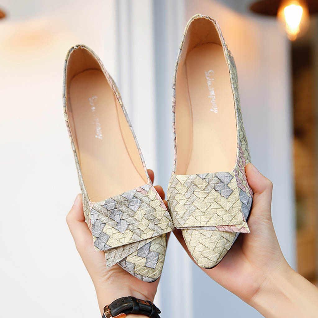 2019 frauen Pumpt Neue Mode Frühjahr Sommer Schuhe Mädchen Mixed Farben Casual Schuhe Weibliche Hübsche Dame Party Arbeit Walking pumpe Heißer