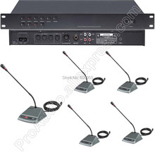 Professional 1 to 48 Wired Gooseneck Conference Meeting Microphone System with Mic Unit