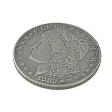 1 шт., стальной Морган доллар(3,8 см диаметр), магические трюки, реквизит для крупным планом, аксессуары, иллюзия, появляющаяся/исчезающая монета