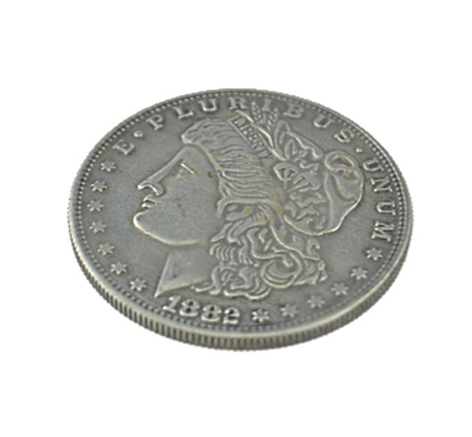 1PC Steel Morgan Dollar (3.8cm Dia) Magic Tricks Close Up Props Accessories Illusion Appearing/Disappearing Coin Magie
