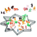 32Pcs Children Farm Animals Toys Model Animal 2-inch Poultry Plastic Toys With Fence and Trees Kids Birthday Gifts VBP70 T15 0.5